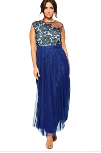 Blue, evening, mother of the bride, formal dress size 16-18 Cornubia Logan Area Preview