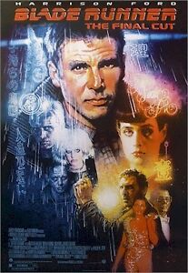 BLADE RUNNER MOVIE POSTER ~ FINAL CUT 27x39 Harrison Ford Drew Struzan