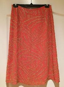 **DESIGNER SKIRT - HALSTON Designer beaded skirt