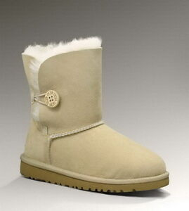 Sand UGG Bailey Button 5991 Kids Boots