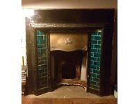 Late Victorian / Edwardian Fireplace with Original Tiles