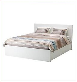 IKEA MALM Double Bed, used for 6 months, as new, with underbed drawer storage and mattress