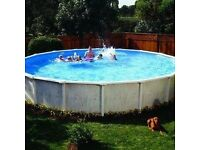 Doughboy 15ft swimming pool,heater pump extras