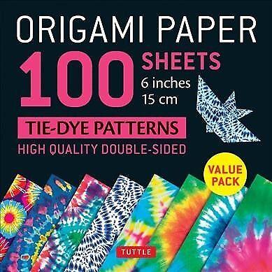 Tie Dye Paper (Origami Paper 100 Sheets Tie-Dye Patterns 6 Inch - 15cm : Tuttle Origami)
