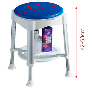 Bath / Shower stool With Padded Rotating Seat