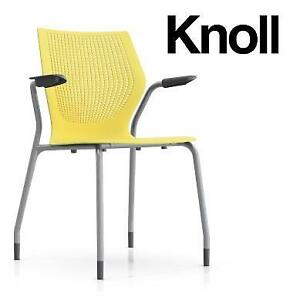 NEW KNOLL STACKING ARM CHAIR KNL-2SANXGL 209949807 MULTIGENERATION YELLOW