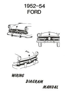 ford 1952 1953 1954 car wiring diagram manual
