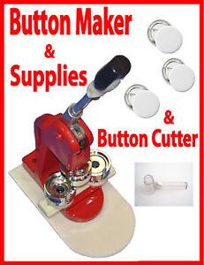 """1"""" (25mm) Badge Button Maker Press+Cutter+100 Button"""