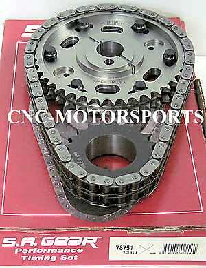 SB Ford 302 351W Late Billet Race Adjustable Cam Timing Chain SA Gear 78751R