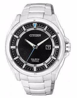 Citizen Mens Watch Brand New Titanium with Box and manual Burwood Burwood Area Preview