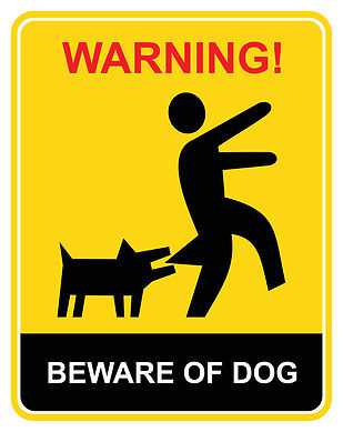 Ob lustig oder ernst – mit diesen Schildern warnen Sie Besucher wirksam vor Ihrem Hund