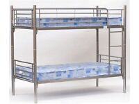 **7-DAY MONEY BACK GUARANTEE!** Metal Bunk Bed with Mattress Options - SAME DAY DELIVERY!