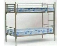 🔵💖🔴BLACK XMAS SUPER SALE🔵💖🔴METAL BUNK BED SINGLE BOTTOM AND TOP STANDARD 3FT SIZE BUNK BED
