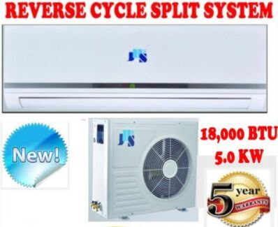 NEW 18000 BTU 5.0KW SPLIT SYSTEM REVERSE CYCLE AIR CONDITIONER