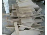 Various lengths of 18mm MDF offcuts.