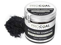 Procoal activated charcoal teeth whitening powder