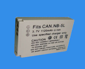 BATTERY For CANON PowerShot NB-5L NB5L SD940 IS SD1000 SD200 IXU