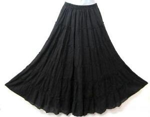 5f13db8b189 Cotton Broomstick Skirt