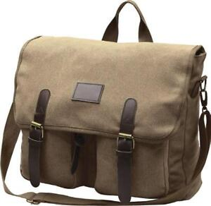 New - MILITARY STYLE CANVAS LAPTOP SHOULDER BAG - Made by World Famous Canada