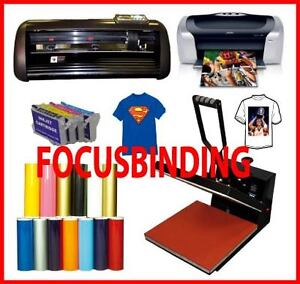 "15x15 Heat Transfer Press,13"" 1000g Vinyl Cutter Printer,Refils"