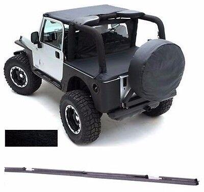 1997-2006 Jeep Wrangler & Unlimited Bikini Bimini Top Black Denim w/ Channel 1997 Jeep Wrangler Denim