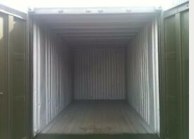 container to let, with electricity, parking.