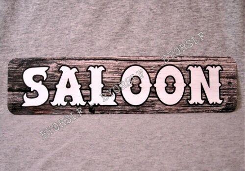 Metal Sign SALOON western bar pub old west bartender beer liquor watering hole