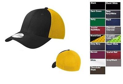 New Era 39THIRTY Structured Stretch Mesh Flex Fit Hat/Cap NE1020 BLANK 17 Colors