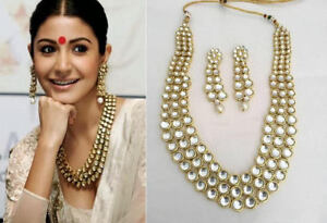 Kundan Necklace Set/Elegant Kundan Jewellery Set/Bollywood Style Kundan Necklace