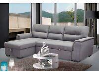 Nebraska Corner Sofa Bed – Velvet Grey