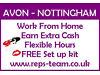 Join AVON Nottingham here - Work from home - Earn extra cash - Immediate start - Brochures Nottingham