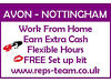 Join AVON Nottingham here - Work from home - Earn extra cash - Immediate start - Brochures Nottingham