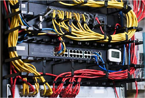 Office computer data network cabling CAT5 CAT6 PBX VOIP Exchange