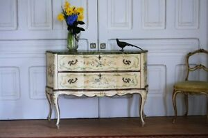 Antique Hand Painted French Italian Commode