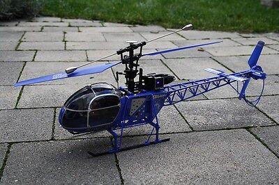 RC 2,4 Ghz. Helikopter LAMA AEROSPATIALE 4 Kanal Single Blade Hubschrauber RTR