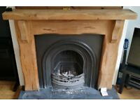 Stovax Decorative Arched Insert Fireplace and Solid Wood Surround