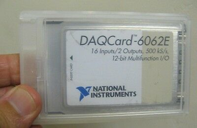 National Instruments Daqcard Daq Card 6062e Ni Pcmcia 12-bit Io
