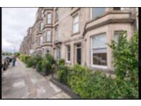 Flat to Rent. Comely Bank Avenue. Main door 2 Bedrooms & boxroom, good storage. Unfurnished £1140 pm