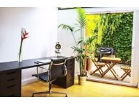 Bright and beautiful home office / desk space available to hire during the day
