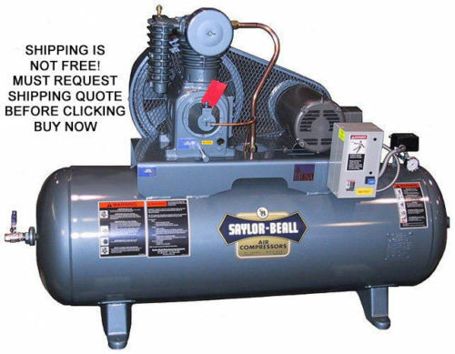 NEW Saylor Beall Horizontal 5 HP Horse Power 80 Gallon Industrial Air Compressor