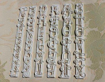 6Pcs Fondant Cake Number Letter Decorating Cutter Mould LW