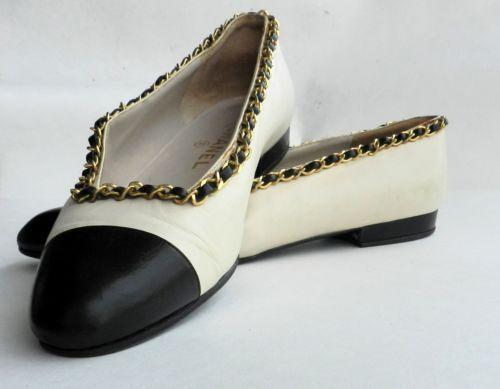Vintage Chanel Flats Ebay