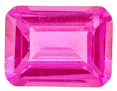 11.5x9 mm 7.15 ct octagon cut lab created Pink Sapphire