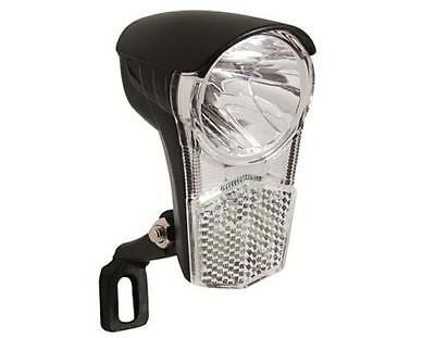 Fahrrad Scheinwerfer LED für Nabendynamo mit Schalter 15 Lux Lampe Frontlampe