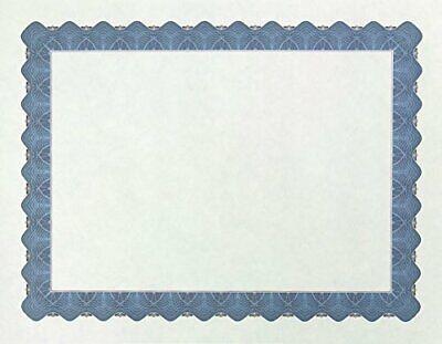 Papers Metallic Blue Border Certificate, 8.5