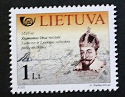 Postal history stamp, 2002, King Zigmantas Vaza, Lithuania, SG ref: 795, MNH