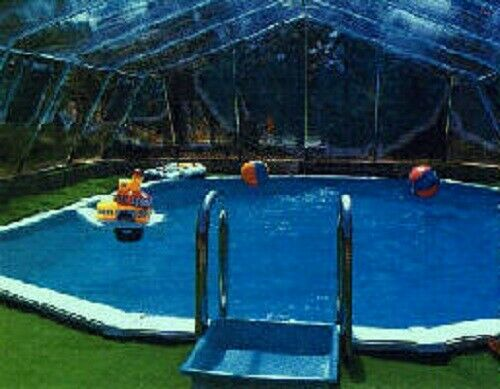In-Ground Pool Cover - Fabrico Sun Dome- 24 FT x 50 FT Dome- USA MADE