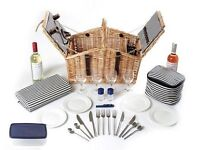 Luxury Picnic Basket - Perfect for Summer Days! With dishes, cutlery, glasses and all! RRP £150
