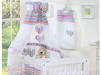Beautiful Girls Cot Bed Bedding Set
