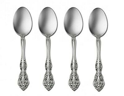 Oneida Michelangelo Stainless Steel Extra Heavy Weight Dinner Spoons, Set of 4